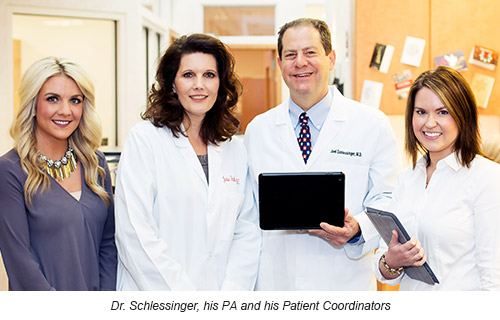 Dr. Schlessinger, his PA and his Patient Coordinators