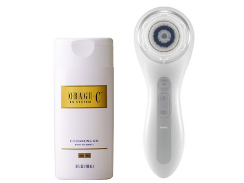 Clarisonic SMART Profile Uplift and Obagi-C Rx C-Cleansing Gel with Vitamin C